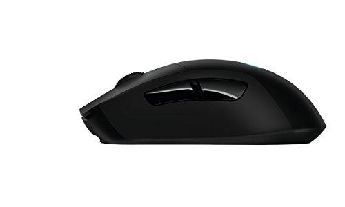 Logitech G403 kabellose/kabelgebundene optische Gaming-Maus (mit 12.000 DPI und kabelloser, 2,4-GHz-Verbindung für PC, Mac, USB) schwarz - 7