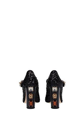 CD0108AL34680999 Dolce&Gabbana Talon Femme Paillettes Noir Noir
