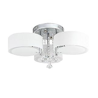 Lampadario LED, bianco caldo e RGB, cristallo acrilico, per soffitto, parete, corridoio, camera da letto, cucina, soggiorno 3/5/7-flammig