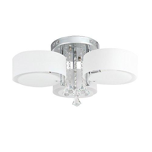 3-flammig 21W LED Warmweiß und 10W RGB Acryl Kristall Deckenleuchte Deckenlampe Flur Schlafzimmer Küche Wandleuchte Wohnzimmer Lampe (3-flammig) -