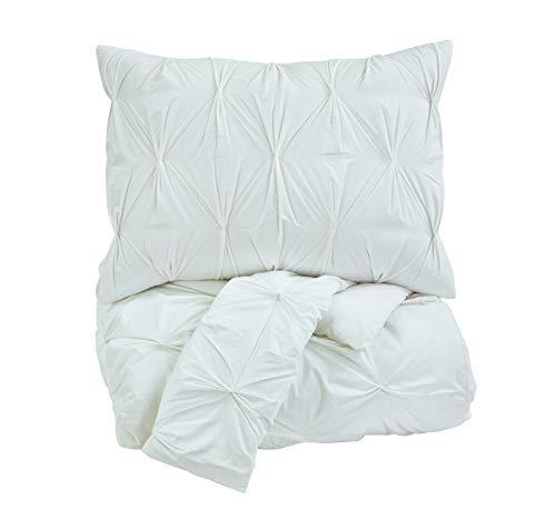 Ashley Möbel Signature Design-Rimy Tröster Set-Inklusive Bettbezug & 2Kissenbezüge-Queen Size-Weiß -