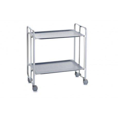 DHO - Table roulante pliante châssis gris aluminium.