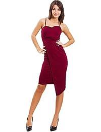 1e270e02123a Toocool - Vestito Donna Miniabito Tubino Aderente Ruches Portafoglio Elegante  Sexy VB-3711