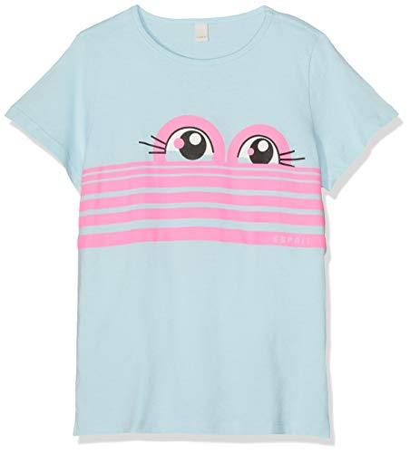 ESPRIT KIDS Mädchen Short Sleeve Tee T-Shirt, Blau (Light Blue 404), (Herstellergröße: 104+) -