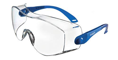 Dräger Gafas de protección X-pect 8120, anteojos Protectores para Obras, Laboratorio y Ciclismo, Apto para usuarios de Gafas, Resistente al Rayado y Recubierto