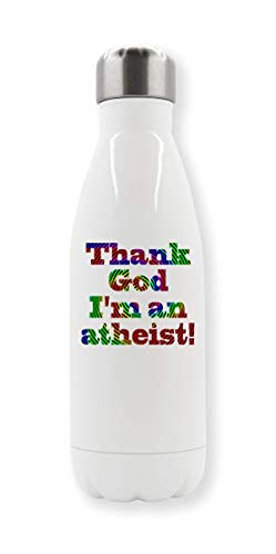 LukeTee Thank God Im an Atheist T-Shirt Thermo-Wasserflasche
