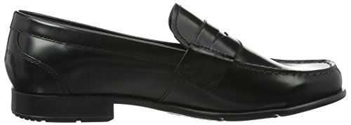 Rockport Classic Loafer Penny, Mocassini uomo Black (Black Waxed Calf)