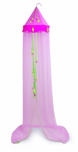 Träume Blatt (Kinder Baldachin, rosa Himmelbett für wunderschöne Prinzessinnen-Träume, dient auch als Mücken-/ Insektenschutz, hochwertig verarbeitet)