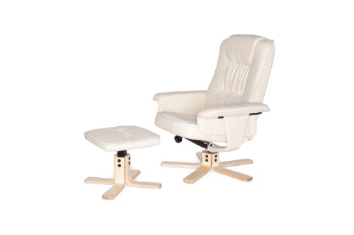 Amstyle Comfort Relaxsessel mit Hocker - 8