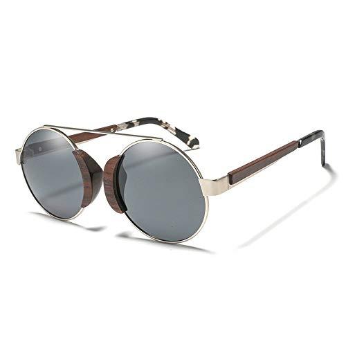Sonnenbrille Holzbeine Retro Sonnenbrille übertrieben Stil Klassisch Runder Rahmen Bunt Spiegel Urlaub Outdoor Sonnenbrille Holz Handmake Sonnenbrille Retro Klassisch Männer Frauen Mit Polarisierten G