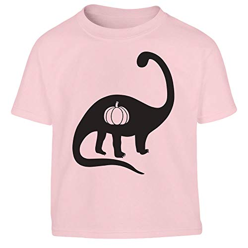 Halloween Kinder Shirts mit Dino & Kürbis Kleinkind Kinder T-Shirt - Gr. 86-116 106/116 (5-6J) Rosa
