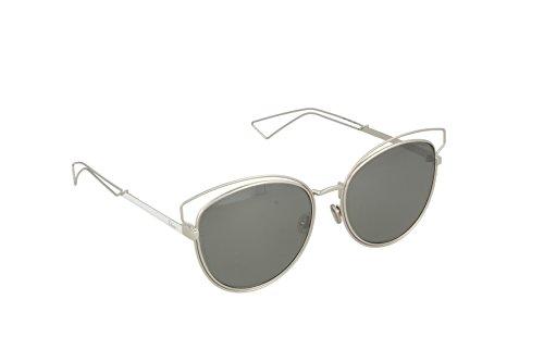 Dior Damen DIORSIDERAL2 SF JB0 Sonnenbrille, Silber (Palladium White/Black Grey Speckled), 56