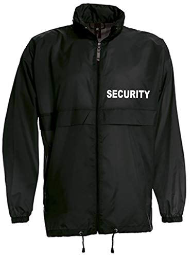 SECURITY-WINDBREAKER/REGENJACKE bedruckt mit
