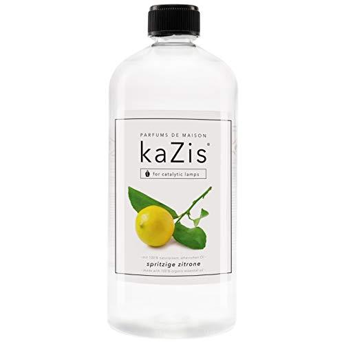 KAZIS I Zitrone Duft I Passend für alle katalytischen Lampen I Neutrale Essenz I Parfums de Maison I Nachfüll-Öl (Refill) I 1000 ml I 1 Liter