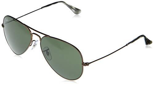 Ray-ban unisex - adulto aviator occhiali, marrone, 62 mm