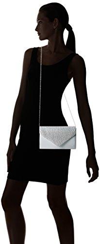 Swankyswans Damen Abby Diamante Envelope Style Bag Tasche, Einheitsgröße Silberfarben