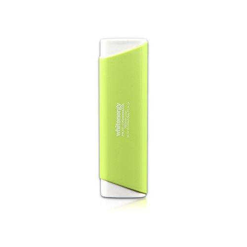 Whitenergy batteria esterna, Carica batterie, Banca Portable Power 2000mAh 1x ingresso uscita USB 1A, MICRO USB 500mA verde