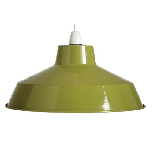 pluto-classic-metal-ceiling-light-shade-olive-green