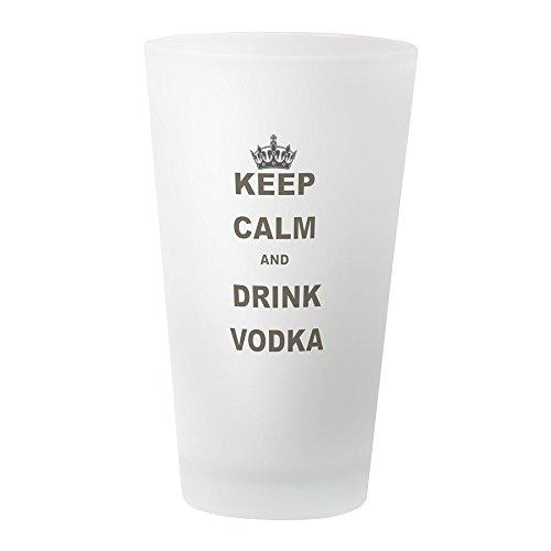 Lustig, Urkomisch Bier (CafePress–Keep Calm and Drink Vodka–Pint-Glas, 16oz Trinkglas frosted)