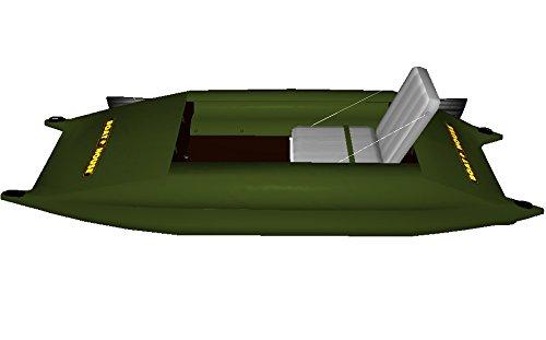 Professionelles Schlauchboot STREAM 300 Ruderboot Kajak mit Festboden - Angeln ohne die Gefahr umzukippen