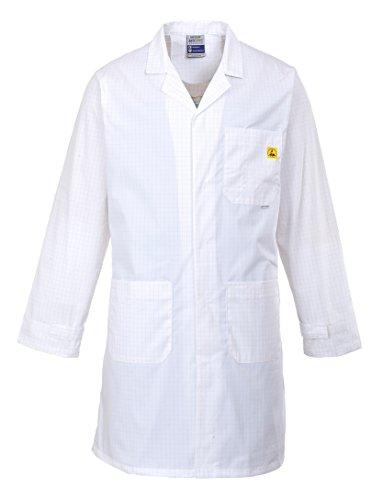 PORTWEST AS10WHRXL Anti-Statik Önlük/Mantel, weiß, XL