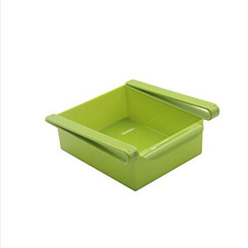 Tolyneil Kühlschrank Frischhaltebox, ausziehbarer Kühlschrank-Organizer, multifunktionale Schublade Aufbewahrungsbox -