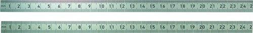 BMI Biegsamer Stahlmaßstab, 500 mm, rostfreier Edelstahl, Teilung Oberkante 1/2 mm, Unterkante 1/1 mm, 1 Stück, 963050030