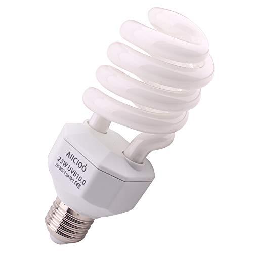 10,0 Lampadina UVB 23W 10% compatta e fluorescente per rettili migliorare la sintesi di D3 Alta uscita UVB per lucertola tartaruga 220-240V E27