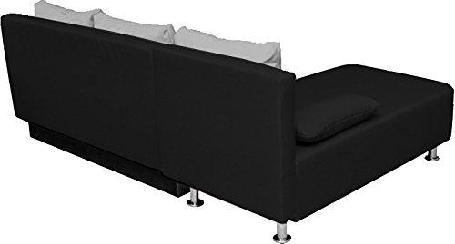 ONUX Ecksofa Couch mit Schlaffunktion Schwarz - 5