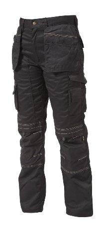 Apache Pantalon de travail en poly-coton pour homme, 36W x 31L, noir, 1