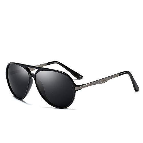 Tr Brillengestell Fahrsport UV-Schutz Sonnenbrillen Herren Polarisierte Sonnenbrillen Brille (Color : 02 schwarz, Size : Kostenlos)