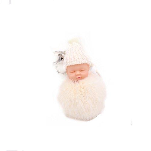 Yinew Niedlichen Plüsch Puppe Keychain Niedliche Puppe Haar Ball Anhänger Dame Tasche Anhänger Pelz Auto Ornamente (Pelz Taschen)