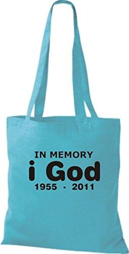 ShirtInStyle Stoffbeutel Steve Jobs in Memory of Baumwolltasche Beutel, diverse Farbe sky blue