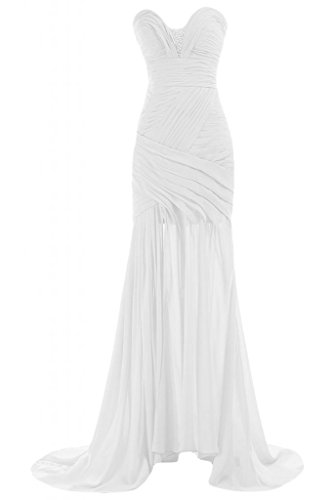 Sunvary Chic Sweetheart collo, da donna, per abiti da sera, Pageant Gowns Party Dress Bianco