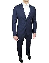 Mat Sartoriale - Costume complet ajusté pour homme - Élégant - Bleu foncé  ... 5e123afd6bd