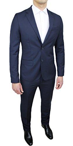 Festlicher Herren-Anzug, Blau, Slim-Fit (schmale Passform), tailliert, elegant, Blau 50