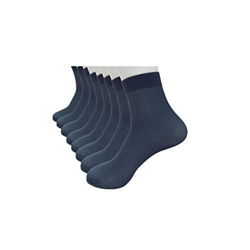 XuxMim 4 Paar Bambusfaser Ultradünne elastische seidige kurze Seidenstrümpfe Herren Socken - Mit Griffen Yoga Männer Zehen-socken
