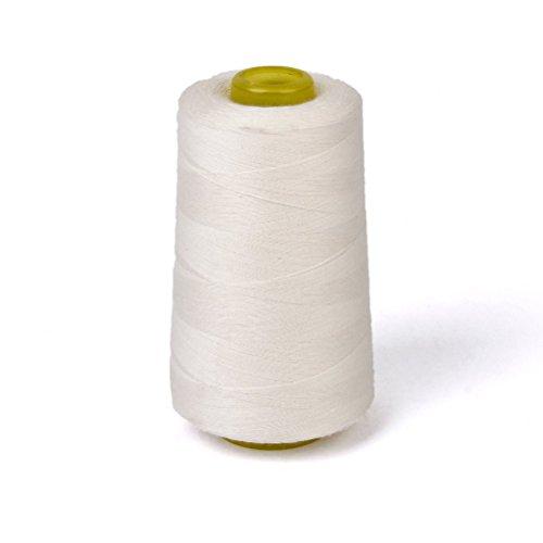 rosenice-Bobina de hilo de coser de algodón para máquina de coser 3000Verges (color blanco)