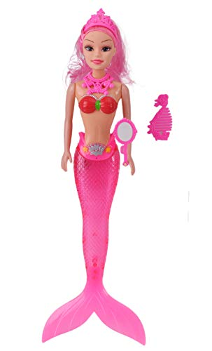 Toyland 50cm rosa bambola principessa sirena giocattolo