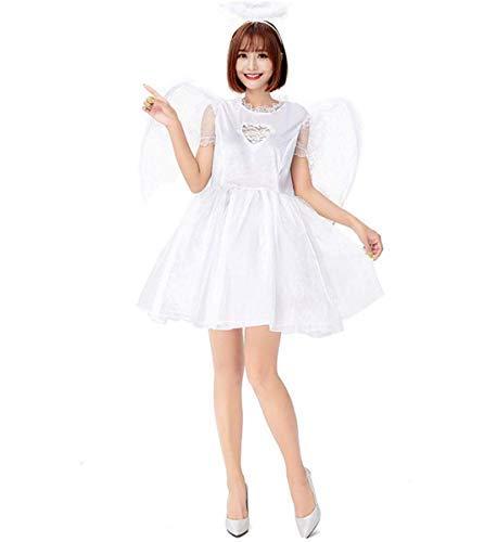 LOBTY Damen Dunkler Engel Kostüm Weißer Engel skostüm Kostüm Halloweenspiel Anime Rolle Spielen Bühnenshow (Dunkle Und Weiße Engel Kostüm)