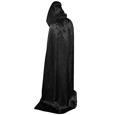 Jiyaru Halloween Cape à Capuche Manteau Longue Poncho Noir XL