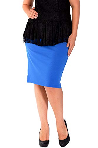 Nouvelle Collection Plain Ponte Pencil Skirt Royal Blue 24-26 (Blue Skirt Royal Pencil)