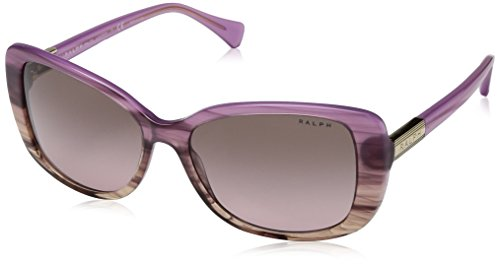 Ralph lauren ralph by 0ra5223 162814 occhiali da sole, rosa horn gradient/berry hrn/brownrosegradient, 57 donna