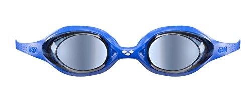 arena Kinder Unisex Wettkampf Schwimmbrille Spider Junior Mirror (Verspiegelt, UV-Schutz, Anti-Fog Beschichtung), Blue-Blue-Yellow (73), One Size Kinder Spider Girl