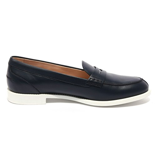 B1409 mocassino donna TOD'S scarpa blu loafer shoes women Blu