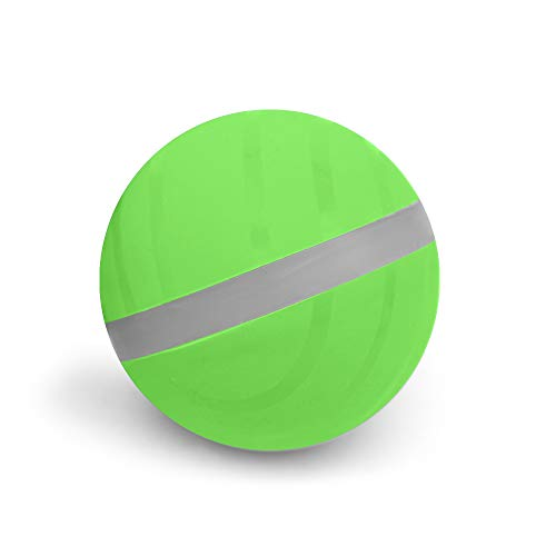 Balle sauteuse pour Animaux de Compagnie, Jouet pour Chien interactif avec gâterie, Boule électrique USB pour Animaux de Compagnie, Jouet ludique Amusant, Balle Puzzle Alimentaire (Vert)