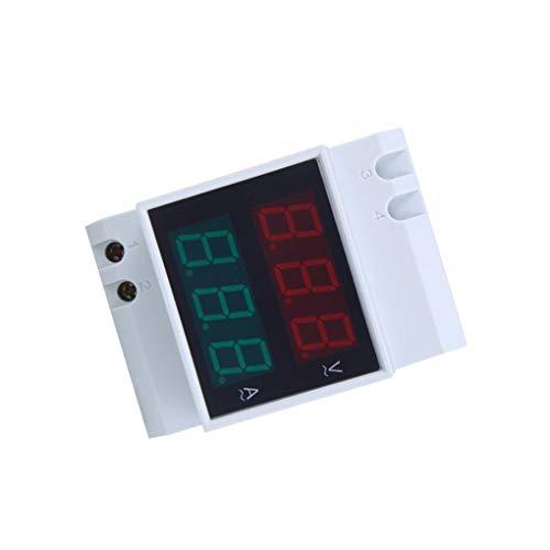 Uokoki D52-2042 dual LED para carril DIN AC80-300V del amperímetro del voltímetro digital del metro del voltaje actual