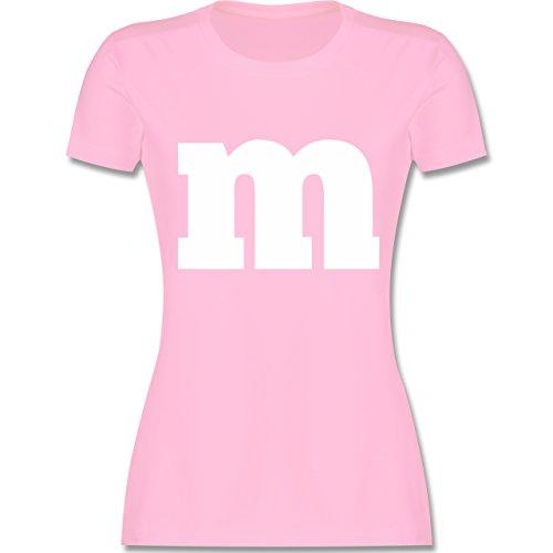 Karneval & Fasching - Gruppen-Kostüm m Aufdruck - L - Rosa - L191 - Damen Tshirt und Frauen T-Shirt (Paar 2019 Kostüme Lustig)