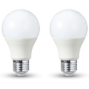 AmazonBasics - Bombilla LED E27, 9,5 W equivalente a 60 W, 806 lúmenes, no regulable - 2 unidades