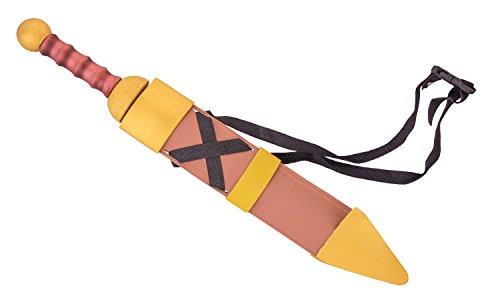 (Erlebnis Mittelalter Schwert aus Holz/Kunststoff, Verschiedene Varianten (Set Gladius Soft Weiches Softschwert mit Glasfaserkern und Schutzhülle mit Gürtelband, 60x9x5 cm))